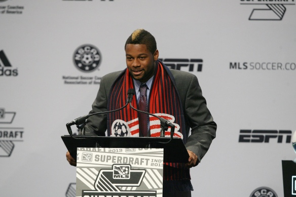 With the 1st overall pick in the 2013 MLS SuperDraft, the New England Revolution have selected defender Andrew Farrell of LouisvilleCourtesy of the New England Revolution